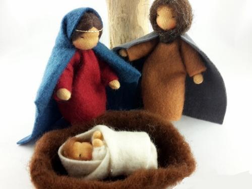 Heilige Familie für die Krippe
