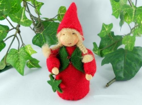 Adventwichtel / Weihnachtswichtel in Rot