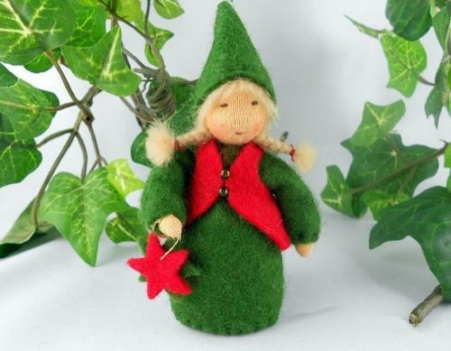 Adventwichtel / Weihnachtswichtel in Grün