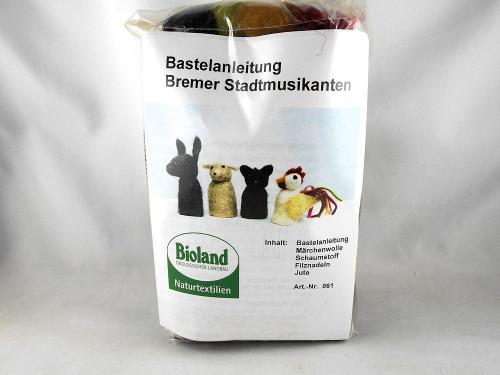 Bastelset Bremer Stadtmusikanten Fingerpuppen zum Nadelfilzen