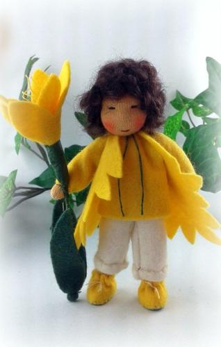 Crocus - boy, yellow - flower child